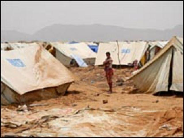 نازحون يمنيون