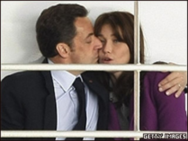 نيكولا ساركوزي وكارلا بروني