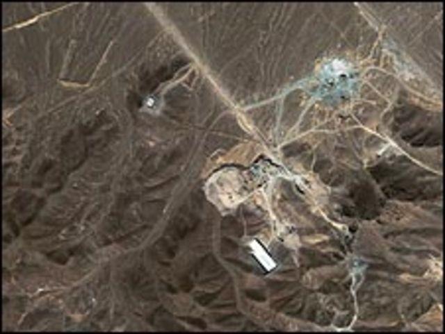 صورة بالأقمار الصناعية للموقع المفترض للمنشأة النووية
