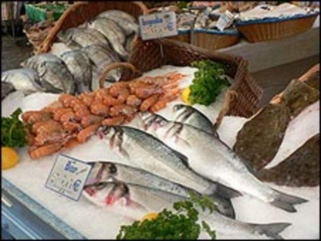 Mercado tradicional en Francia