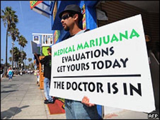 Vendedor de marihuana terapéutica.