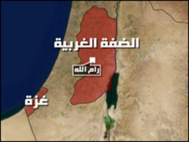 خارطة اسرائيل والاراضي الفلسطينية.