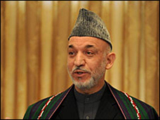 الرئيس الأفغاني حامد كرزاي