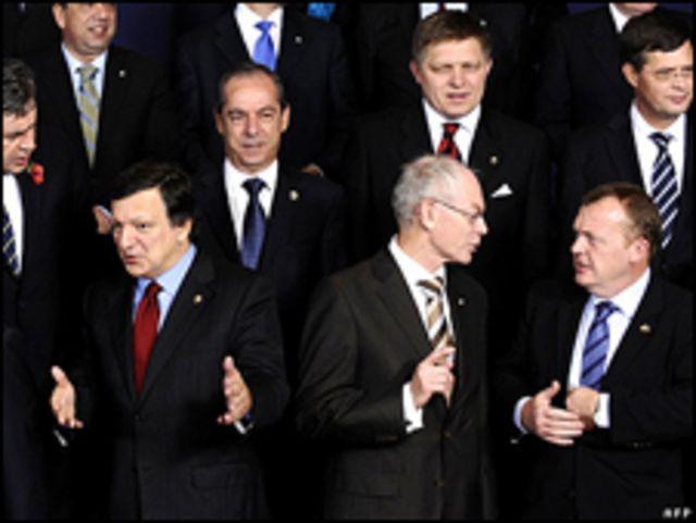 من اجتماع لقادة دول الاتحاد الأوروبي