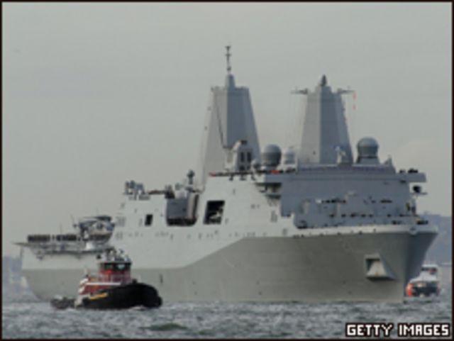 السفينة الأمريكية التي بنيت من حطام برجي التجارة العالمي