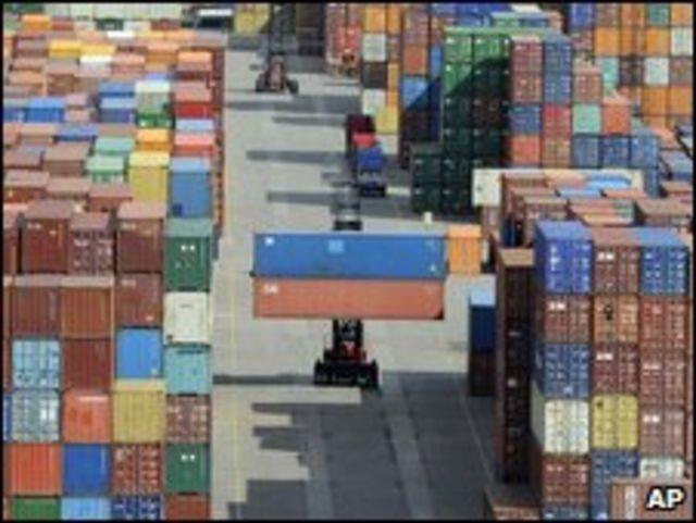 德國漢堡港出口集裝箱