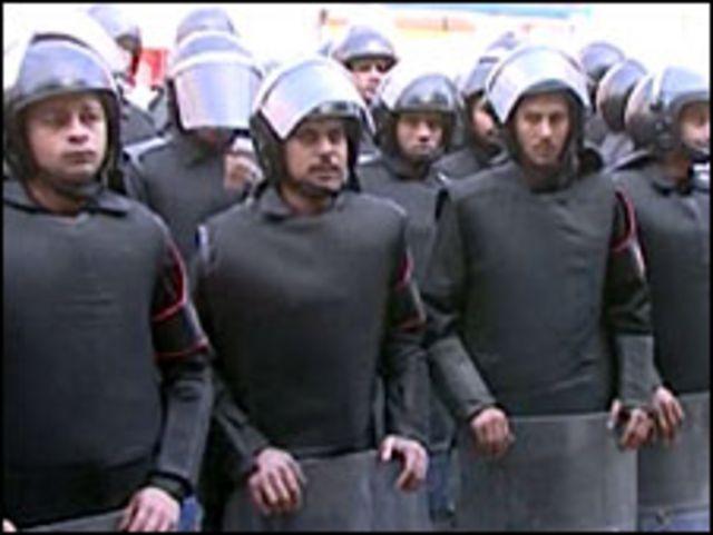 قوات امن مصرية