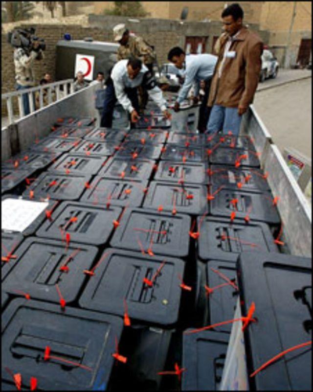 نقل صناديق الانتخابات العراقية