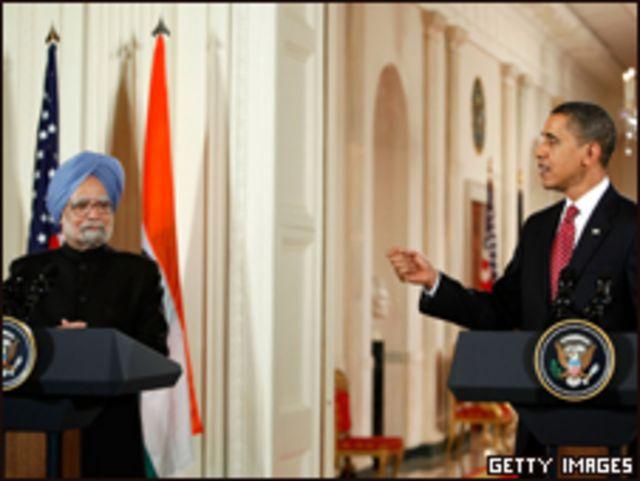 الرئيس، باراك أوباما يستقبل رئيس الوزراء الهندي،