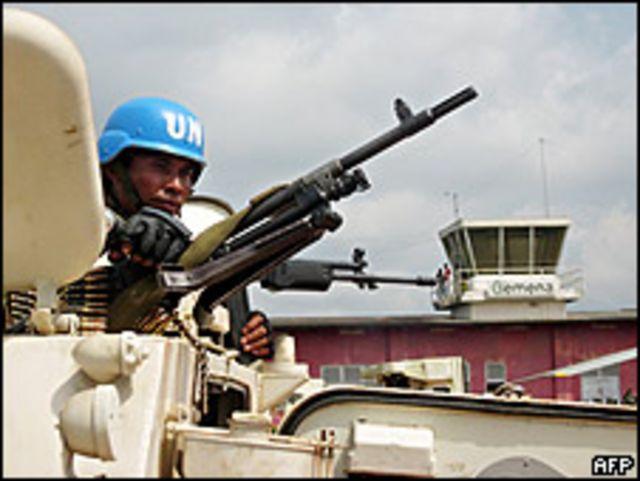 جندي دولي في الكونغو