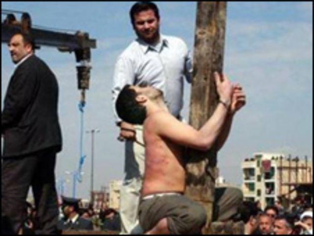 شلاق محکوم به اعدام قبل از اجرای حکم اعدام