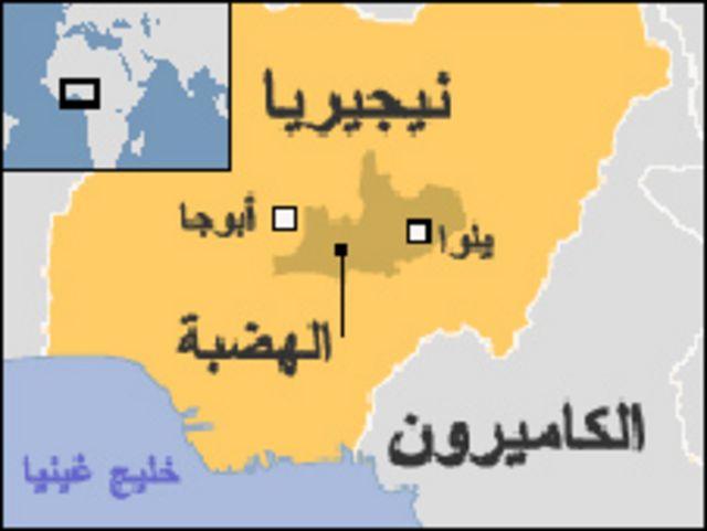 خريطة نيجيريا