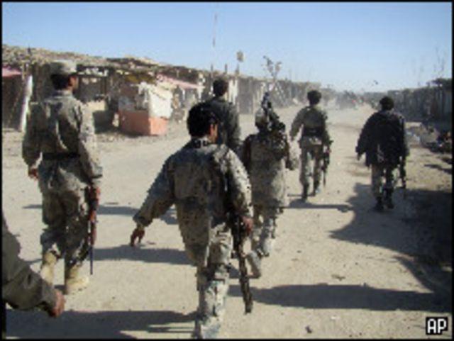 جنود من الجيش الأفغان