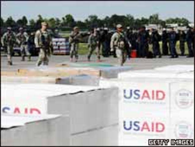 مساعدات وكالة الاغاثة الامريكية