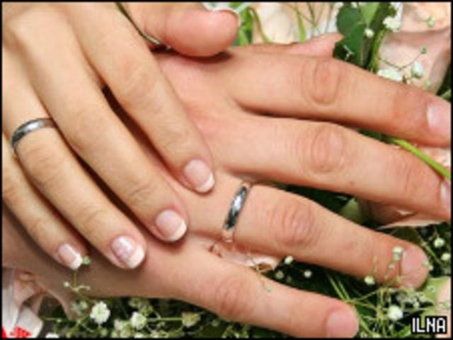 تصویری از مراسم ازدواج