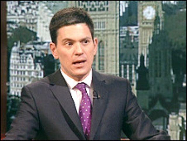 وزير الخارجية البريطاني ديفيد ميليباند