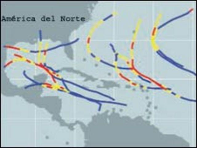Actividad actual de huracanes (NOAA)