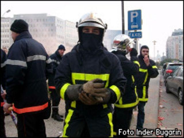 Bomberos en las calles de Bruselas