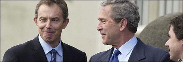 Tony Blair, George W. Bush y José María Aznar en una foto de archivo del 16/03/03