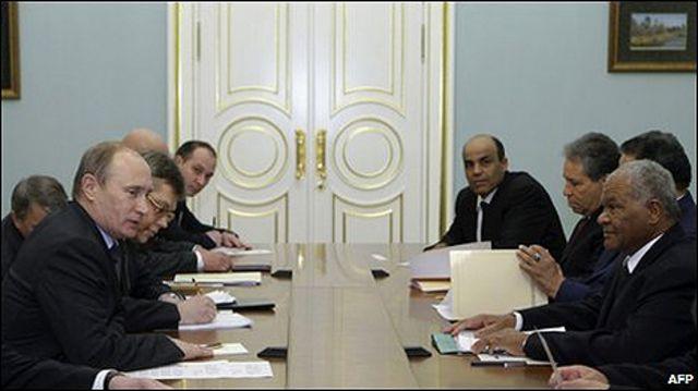 استغرقت زيارة الوفد الليبي الى موسكو عدة ايام