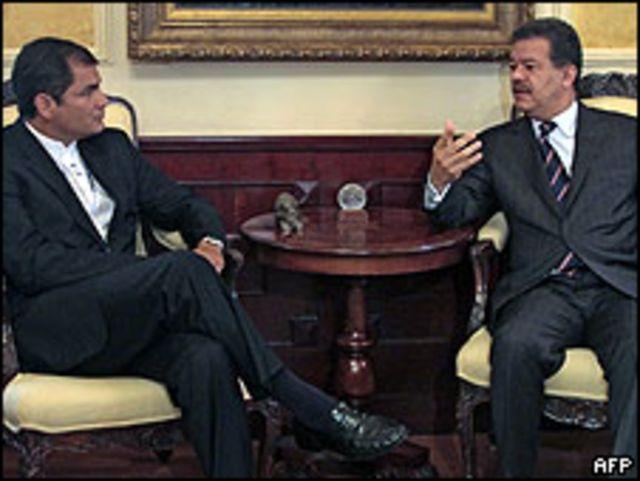 Rafael Correa y Leonel Fernández