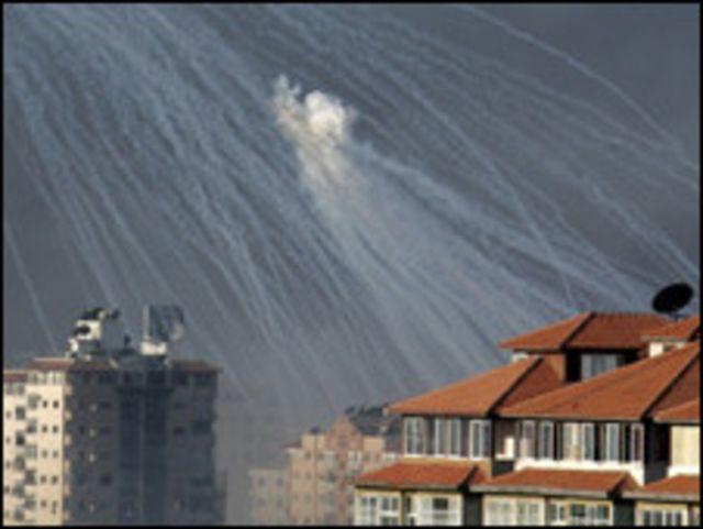 استخدام الفوسفور الأبيض في غزة