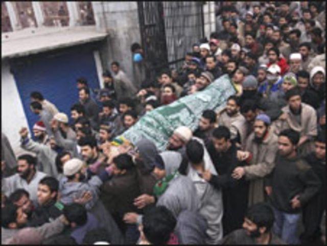 جنازة الفتى القتيل في كشمير