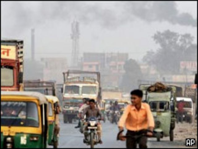 Emisiones de gases contaminantes en India