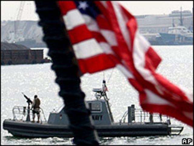 Navío militar estadounidense en Bahrain