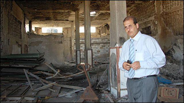 حطام مطحنة البدر شمالي غزة