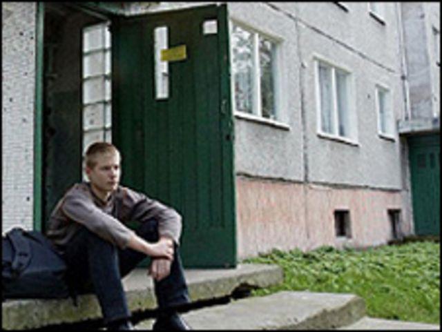 مجمَّع من الشقق في لاتفيا من الحقبة السوفياتية