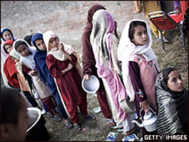 Niñas en Pakistán (foto de archivo)