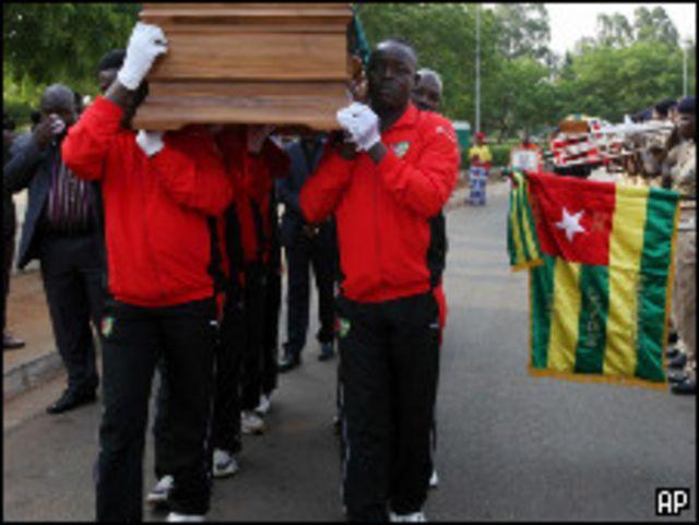 تشييع أحد قتيلي الهجوم في عاصمة توجو