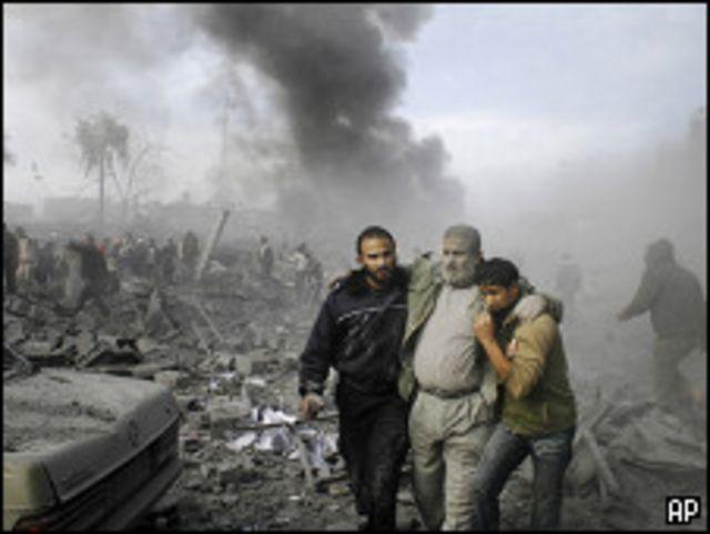 هلع بعد غارة على غزة