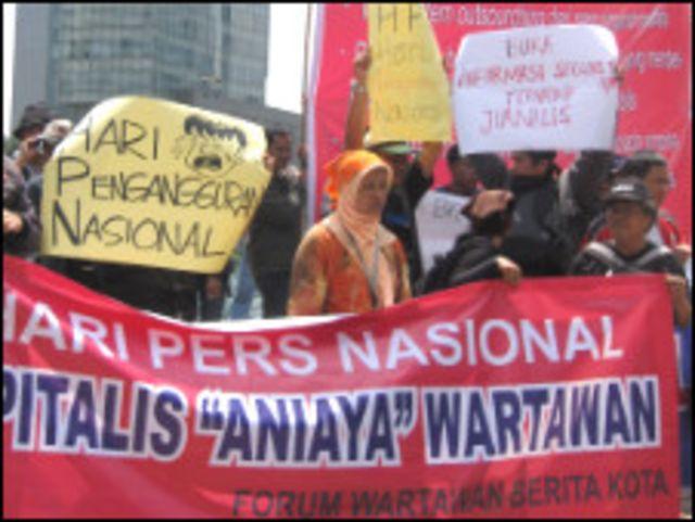 aksi wartawan menolak phk
