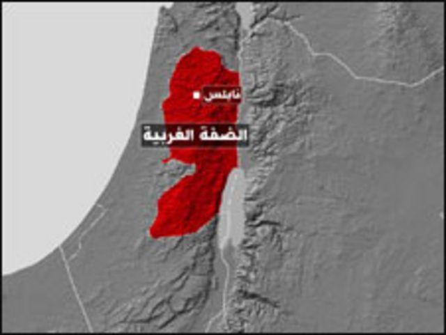 خريطة الضفة الغربية