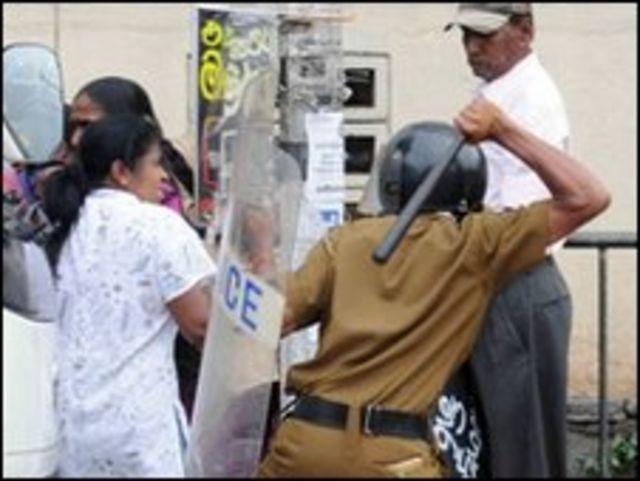 مظاهرات سريلانكا
