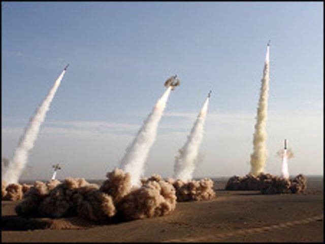 تجربة صاروخية ايرانية