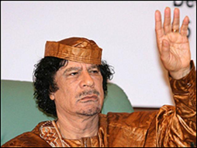الزعيم الليبي معمر القذافي