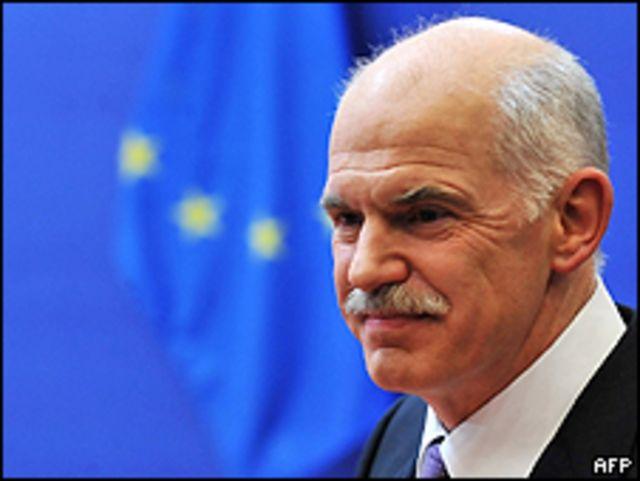 رئيس وزراء اليونان جورج باباندريو