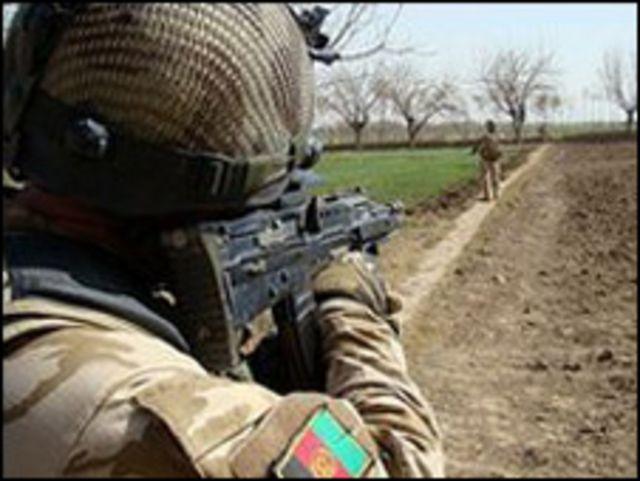 قوات أفغانية في هلمند