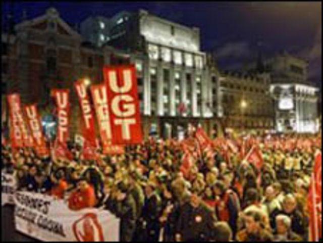 تظاهرات في اسبانيا