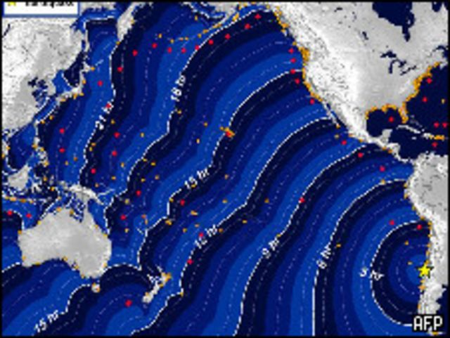 تسونامي زلزال تشيلي