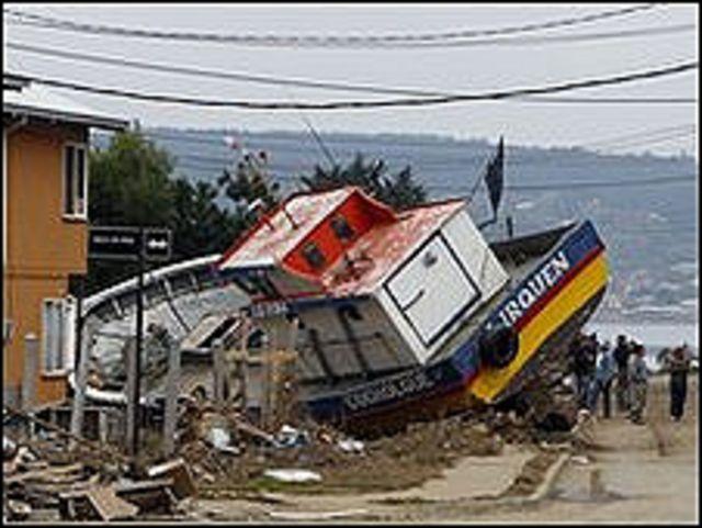 دمار في تشيلي