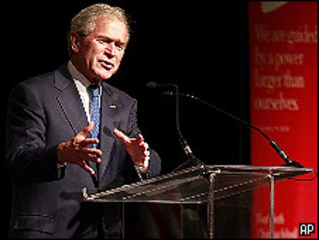 الرئيس الأمريكي السابق، جورج بوش
