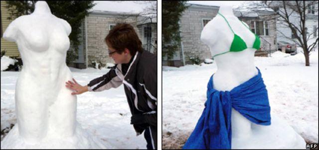 تمثال فينوس من الثلج