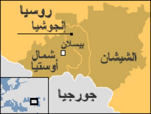 خريطة لشمال القوقاز