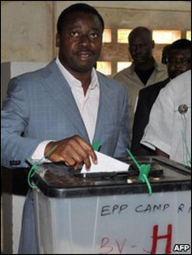 رئيس توغو الحالي، فور جناسينكبي