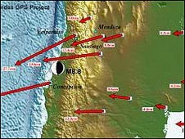 Mapa en detalle (Gráfica: Universidad de Hawaii)