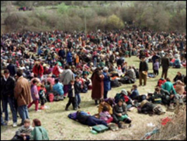 لاجئون اثناء حرب كوسوفو